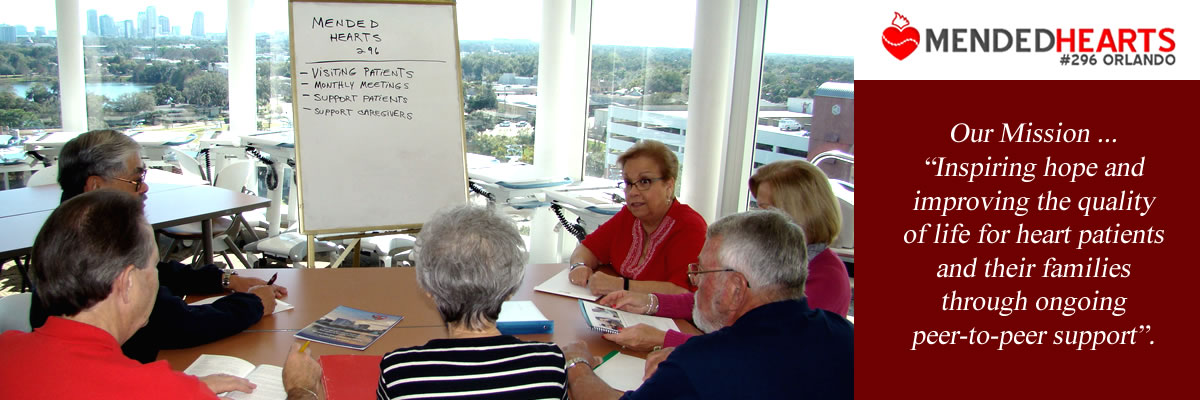Mended Hearts Orlando board of directors discussing the next meeting agenda